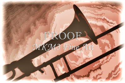 Trombone Silhouette Painting in Color 3206.02