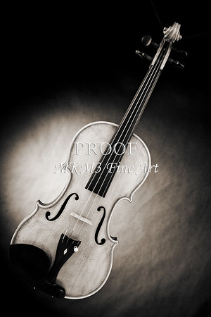Photograph of a Viola Violin Spotlight in Sepia 3375.01
