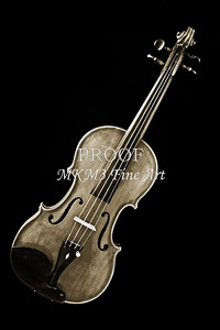 Photograph of a Complete Viola Violin in Sepia 3368.01