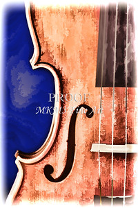 Painting of a Viola Violin Side in Color 3373.02