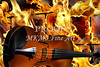 Viola Violin in a Fire Background in Colors Gold Yellow 3074.02