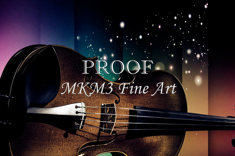 Viola Violin on a Star and Rainbow Background in Antique Color 3073.03