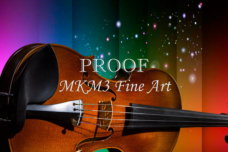 Viola Violin on a Star and Rainbow Background in Color 3073.02