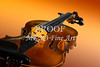 Viola Violin on a Gold Background in Color 3068.02