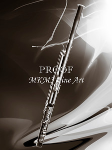 Complete Bassoon Music Instrument in Sepia 3410.01