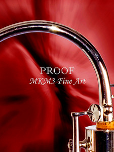 Bassoon Bocal Music Instrument Fine Art Print in red Color 3421.02