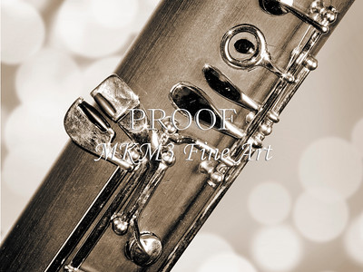 Body of Bassoon Music Instrument Fine Art Prints Picture in Sepia 3422.01