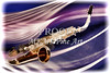 Canvas Prints Saxophone in Space Painting 3250.02