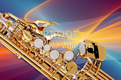 Modern Soprano Saxophone Image in Color 3344.02