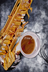 Canvas Prints Painting of a Saxophone 3265.02