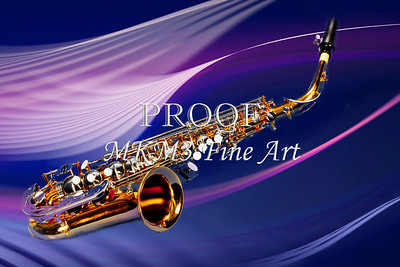 Metal Art Saxophone in Space 3251.02