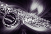 Saxophone In a Swirl Wall Art 3248.01