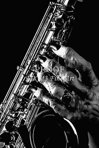 Heary Handed Saxophone 1130bw