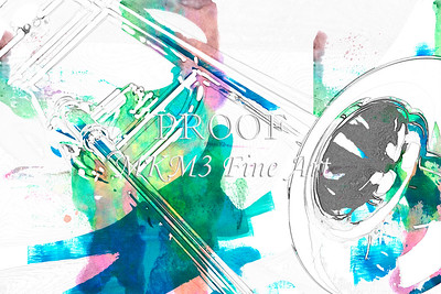 Canvas Art Trombone Painting 2603.01