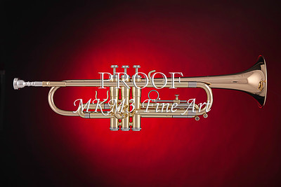 Trumpet on Red Color 2501.02