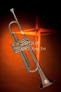 Gold Trumpet with Gold Cross 2501.05