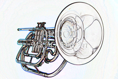 Marching Horn Watercolor 2506.10