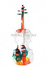 White Wall Art Violin Watercolor 6038