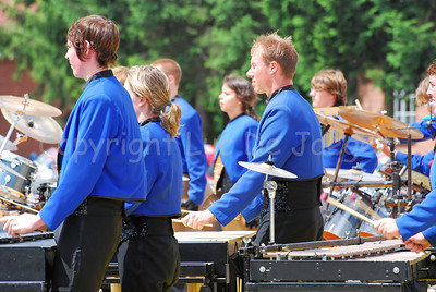 Performance of the award-winning DrumSpirit Showband in Leopoldsburg (Belgium) late June 2008.