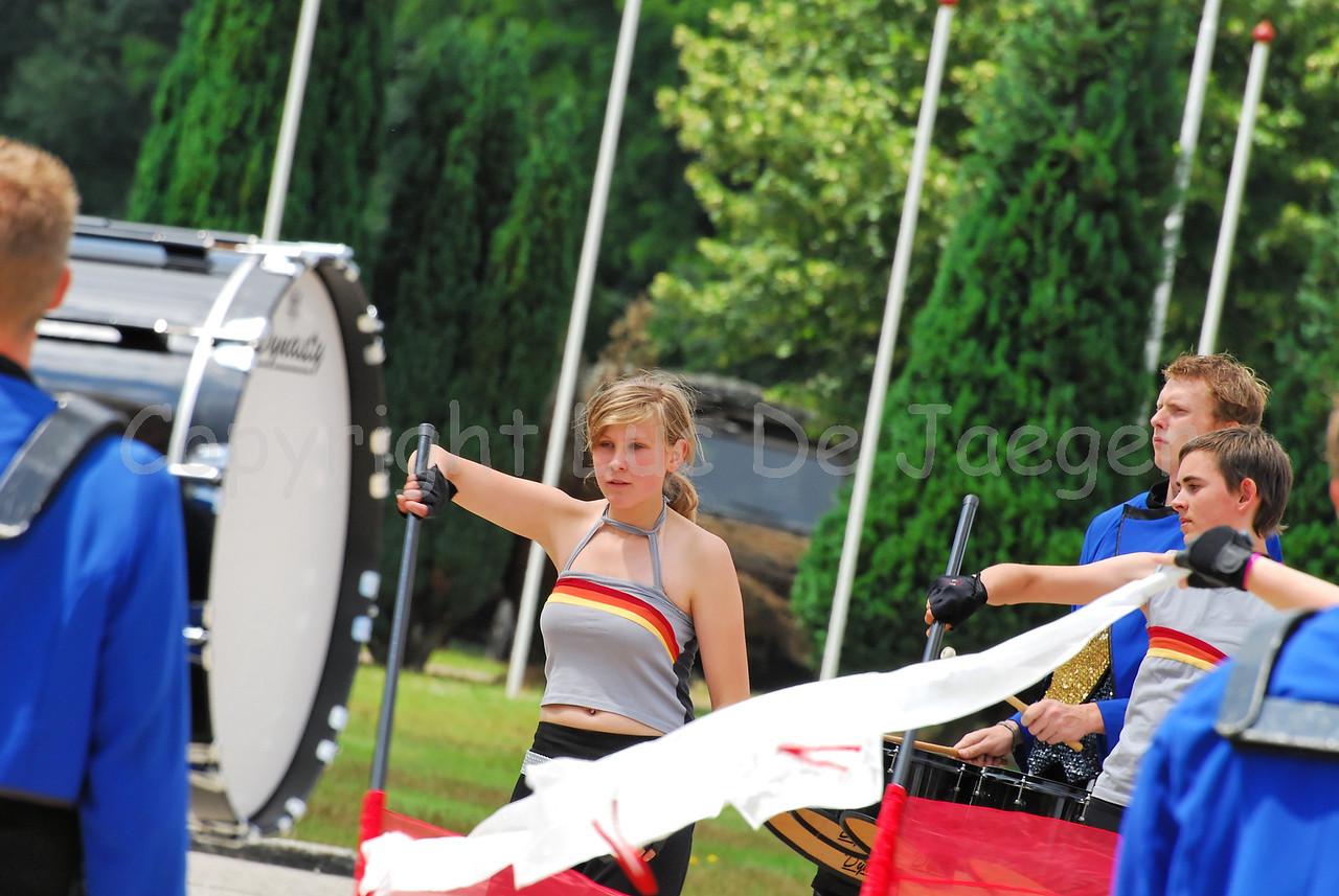 Performance of the award-winning DrumSpirit Showband in Leopoldsburg (Belgium) late June 2008.