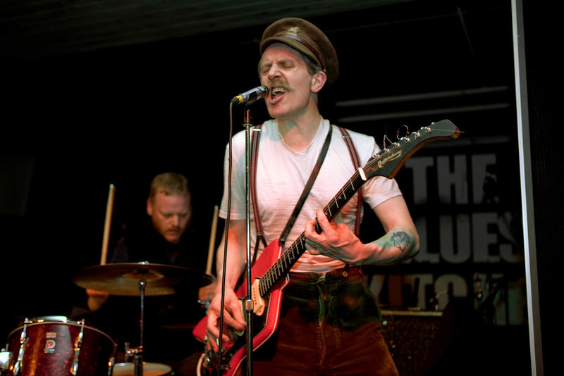 Billy Childish at the Blues Kitchen, London, part of the Camden Crawl Festival 2010