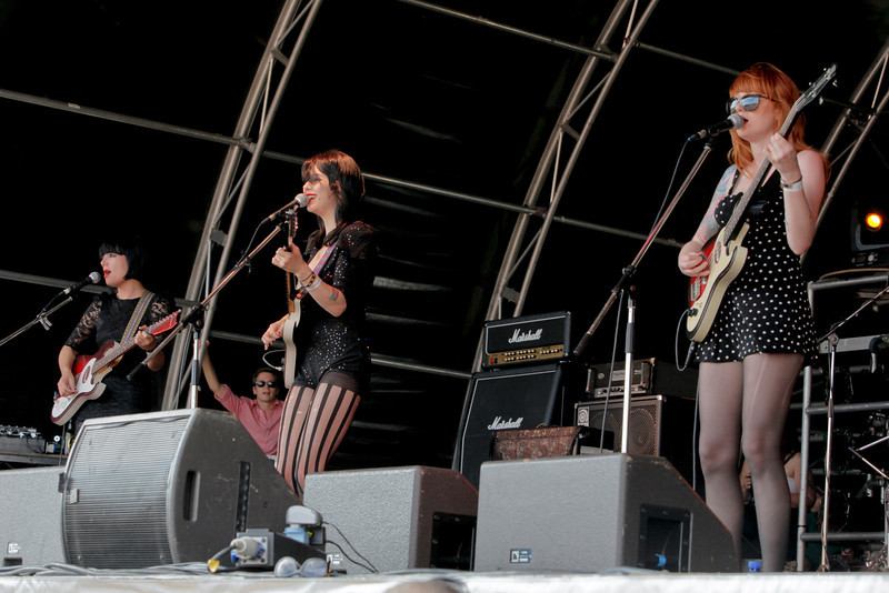 Dum Dum Girls at the 1234 Festival, Shoreditch Park, London. 24th July 2010