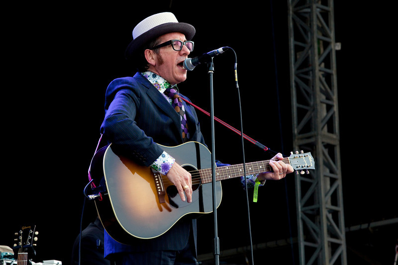 Elvis Costello at the Hard Rock Calling Festival, Hyde Park 2010. London