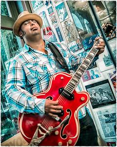 Mondo Cortez, Felix Reyes, Joe Meyer & Paige DeChausse at the Blues City Deli