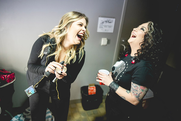 Ashley McBryde prepares for her performance on the What You See Is What You Get Tour in Columbia, MO.