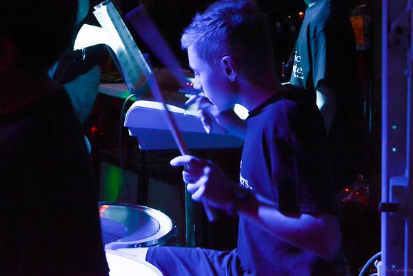 Gavin on drums.