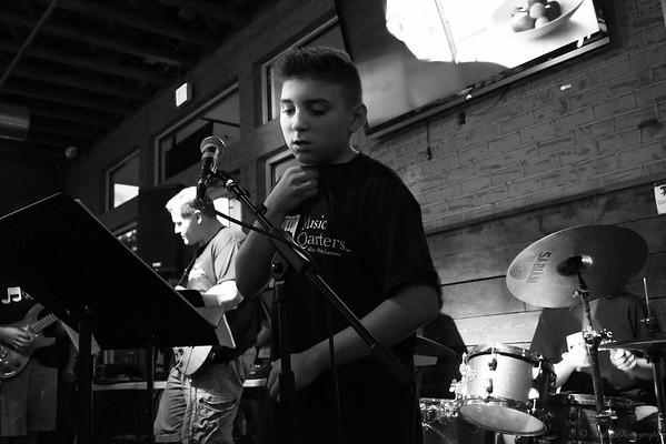 Lorenzo preparing to sing!