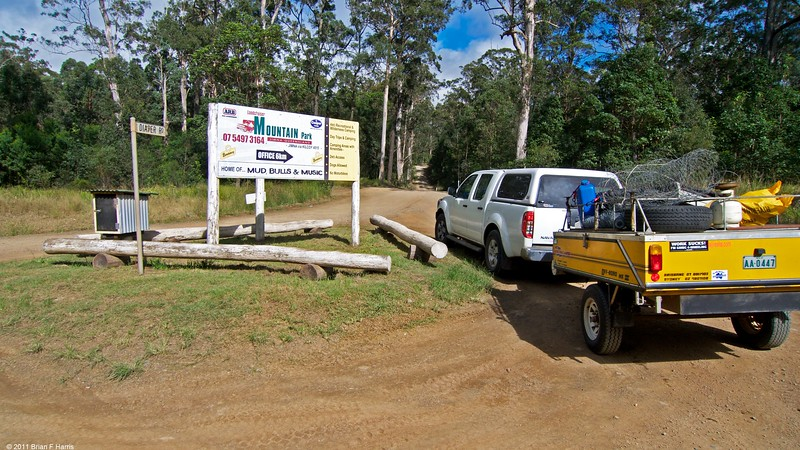 My Nissan Navara visits LCMP  first time. Aussie Swag has been here for Mud,Bulls and Music etc. 6km