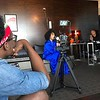 Demetria McKinney and Anje Collins behind the scenes of Is This Love (Music Video) - April 14, 2017