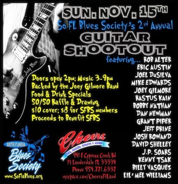 Guitar Shootout Poster by Judy Blem, Talent Agent (Main Event Talent Agency)