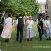 Mendip Stave Dancers outside the Bishop's Palace April 2007