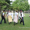 Mendip Stave Dancers outside the Bishop's Palace April 2007