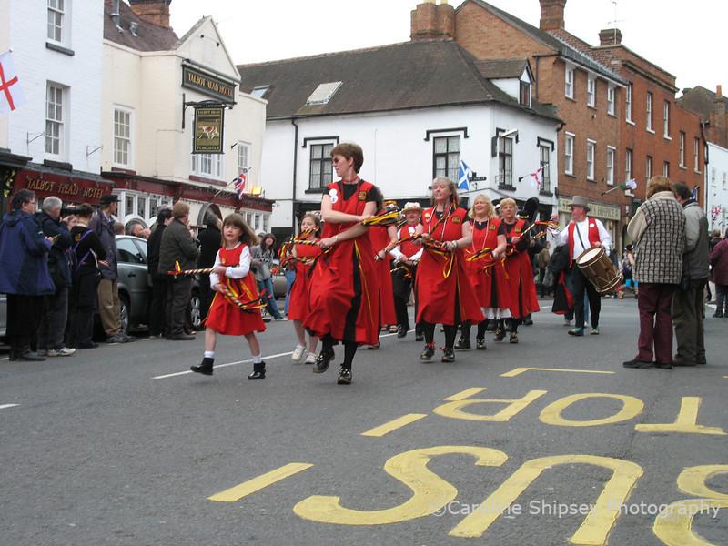 Upton on Severn Folk Festival 2006 - the main procession