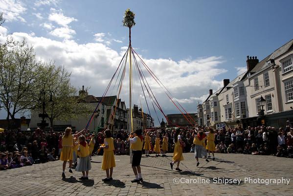 Wells May Fair 2010 Maypole Dancing