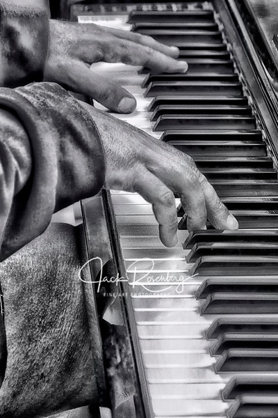 """Playing Piano In The Street - Prague"""