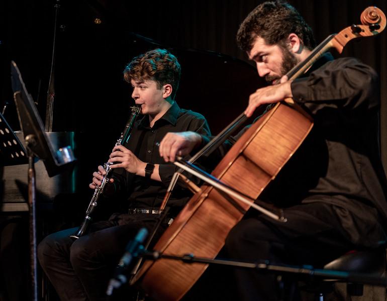 Aaron Lipsky on clarinet, Franklin Keel on cello