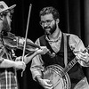 Fiddle to banjo at Isis Music Hall