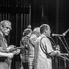 Musicians on stage, Asheville, North Carolina