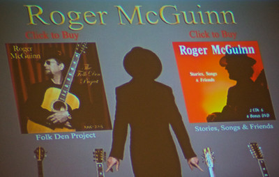 "Roger McGuinn, founding member of ""The Byrds"" appearing at UNC's Chat Festival."