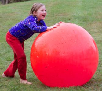Having a ball--literally!