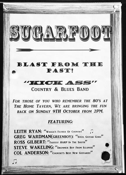 Sugarfoot at Wagga's Home Tavern