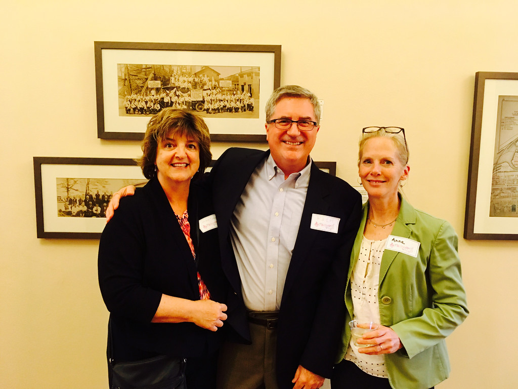. From left, Lowell School committee member Jackie Doherty, with Richard and Anna Cavanaugh of Petersham