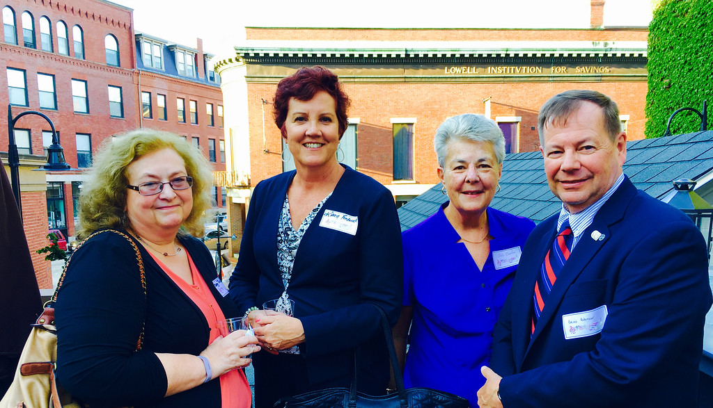 . From left, Penny Judd of Andover, Karen Frederick of Dracut, Sue Beaton of Lowell and Bruce Robinson of Chelmsford