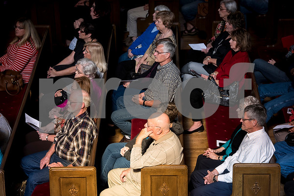 The audience listens during a Tyler Junior College choir concert at Marvin United Methodist Church in Tyler, Texas, on Wednesday, Nov. 29, 2017. Hundreds came to enjoy Christmas classics sung by the choirs. (Chelsea Purgahn/Tyler Morning Telegraph)