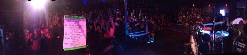 Clutch panorama from the stage. (taken by Neil Fallon of Clutch at the end of the show)