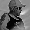 Steve White playing guitar for 16volt in New York City